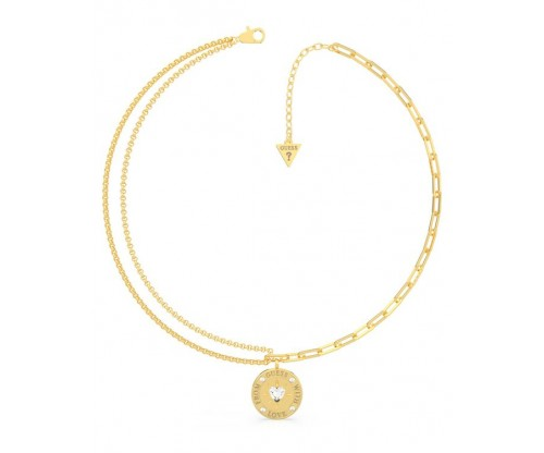 GUESS From GUESS With Love, Necklace, Stainless Steel, Gold-tone plated
