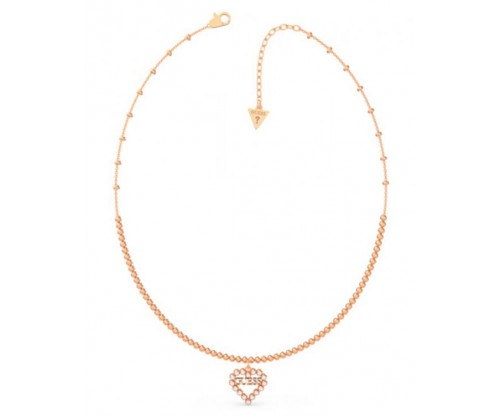GUESS Heart Romance, Necklace, Stainless Steel, Rose gold-tone plated
