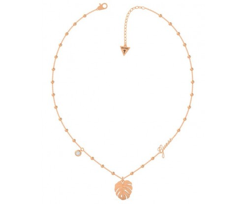 GUESS Tropical Summer, Necklace, Stainless Steel, Rose gold-tone plated