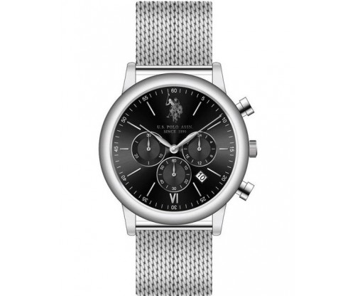U.S. POLO Rebel Silver Stainless Steel Bracelet