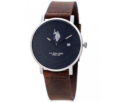 U.S. POLO Chester Brown Leather Strap