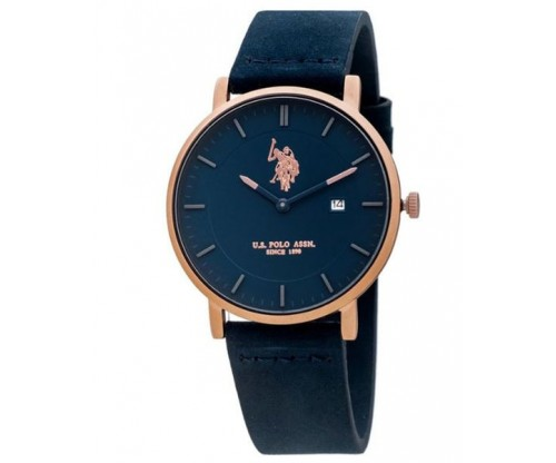 U.S. POLO Chester Blue Leather Strap
