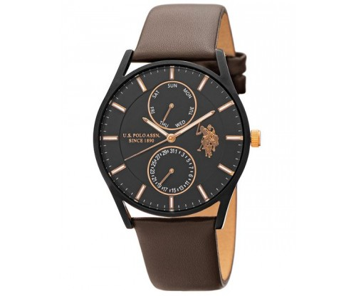 U.S. POLO Henry Brown Leather Strap