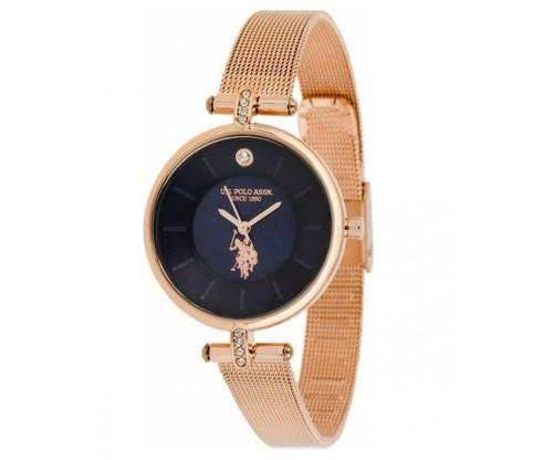 U.S. POLO Helen Crystals Rose Gold Stainless Steel Bracelet