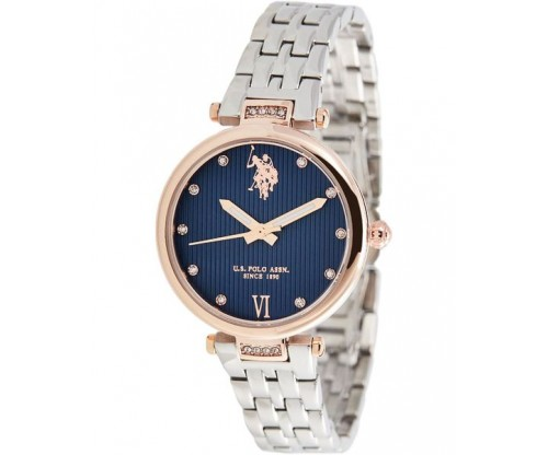 U.S. POLO Margot Crystals Silver Stainless Steel Bracelet