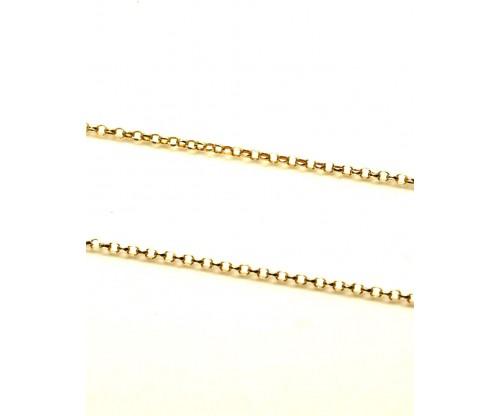 GIOELLE Αλυσίδα από Ασήμι Gold Plated 90εκ.